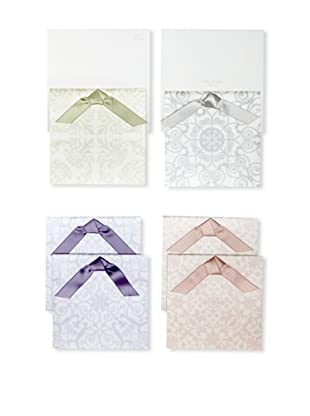 Vera Wang Set of 6 Wedding Themed Satin Ribbon with Vellum Card Set