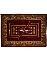 Agra Dari Velvet Carpet - 60'' x 84'' x 0.4'', Brown