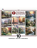 Thomas Kinkade 10 In 1 Collectors Edition Jigsaw Puzzles