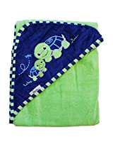 "Extra Large 40""x30"" Velour Hooded Towel, Turtle, Frenchie Mini Couture"