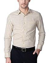 Peter England Beige Shirt