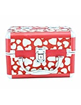 Wedding Bridal Red Vanity Box with 2 Layer Cosmetics Beauty Jewellery Box by KurtzyTM