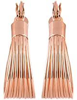 Coral by POKA Non-Precious Metal Gold Hoop Earrings for Women (POKA_J_095_Rose Gold)