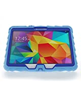 Gumdrop Cases 10-Inch Hideaway Color Case for Samsung Tab 4, Light Blue/Royal Blue (CUST-GSSAM410-LTBLU_RYLBLU)