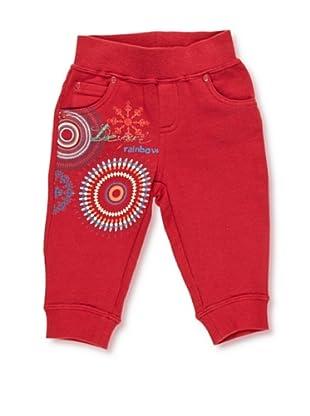 Desigual Pantalón Mosca (Rojo)