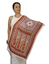 Womens Silk Scarf - Winter Fashion Accessory for Girls Dress Handmade 68x21 Inch