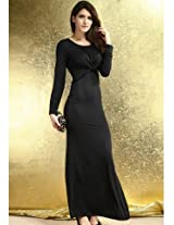 Black Maxi Dress with Twist Detail