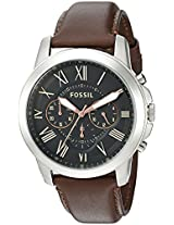 Fossil Grant Chronograph Analog Black Dial Men's Watch - FS4813