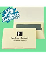Pretie Asian Bamboo Charcoal Facial Blotting, Oil Absorbing Paper 80 sheets.Pop-Up Inter-folded sheets.