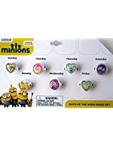 Minions Days Of The Week Rings Set Childrens Jewelry