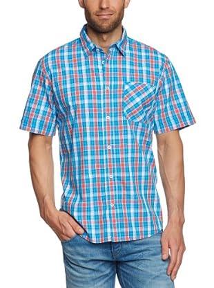 Tom Tailor Camisa Saronno (Azul / Naranja)