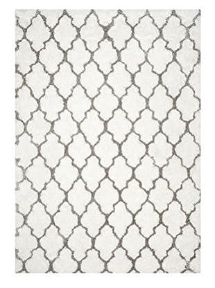 Safavieh Barcelona Shag Rug, White/Silver, 8' x 10'