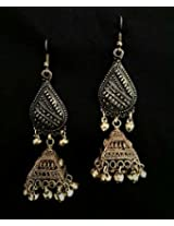 Under the Feather Bronze Jhumka