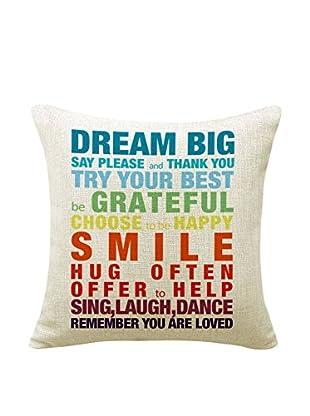 LO+DEMODA Kissenbezug Dream Big 45X45 mehrfarbig