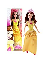 """Mattel Year 2014 Disney Sparkling Princess Series 12 Inch Doll """"Beauty And The Beast"""" Princess Belle (Cfb75) In Sparkling Yellow Dress With Tiara"""