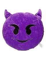 32cm Emoji Smiley Emoticon Purple Round Cushion Pillow Stuffed Plush Soft Toy