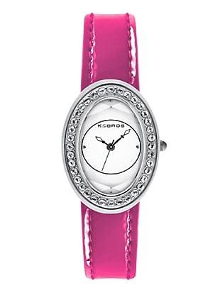K&BROS 9159-4 / Reloj de Señora  con correa de piel fucsia