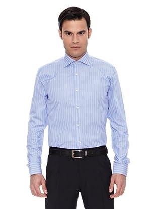 Pedro del Hierro Camisa Moda Vestir T.Masontm Fil A Fil (Azul)