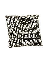 Pluchi Cuadrados Black & Natural Knitted Cushion Cover