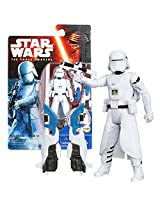 Hasbro Year 2015 Star Wars The Force Awakens Series 4 Inch Tall Action Figure First Order Snowtrooper With Blaster Rifle Plus Build A Weapon Part #2