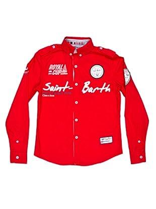 Geographical Norway Camisa Manga Larga Zappy (Rojo)