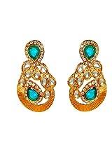 Kshitij Jewels Blue Metal Dangle & Drop Earrings For Women (KJ 248)