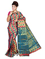 Mimosa Kanchipuram Art silk saree Multy Colour(3131-77-RANIANANDA)