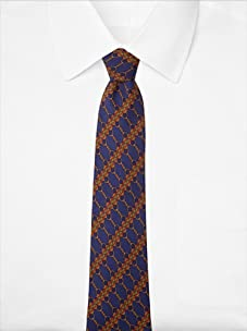 Hermès Men's Chains Tie, Purple/Gold, One Size
