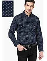 Blue Printed Casual Shirt Pepe Jeans
