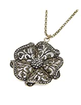 Cinderella Collection by Shining Diva Golden & Silver Pendant with Chain for Women 7080np