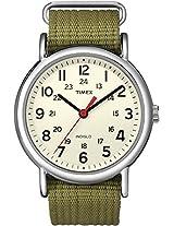 Timex Weekender Indiglo Analog Beige Dial Unisex Watch - T2N651