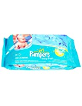 Pampers Baby Fresh Natural Clean Wipes (72 Count) with Free Ayur Soap