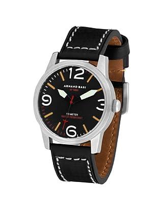 ARMAND BASI A1001G03 - Reloj de Caballero movimiento de cuarzo con correa de piel Negra