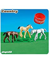 Playmobil 6263 3 Foals With Feed And Dimple Ring