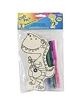 Darice Wood Kit with Markers Dinosaur