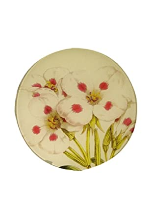 Twigs and Moss Soft, Pink and White Blossoms Glass Tray