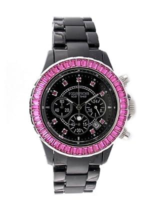K&BROS 9528-3 / Reloj de Señora  con correa de plástico negro