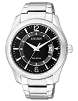 Citizen Eco-Drive Analog Black Dial Men's Watch AW1030-50E