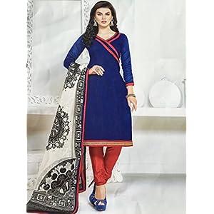 Fashioniista Blue Blush - Dress Material