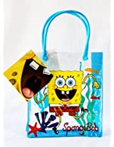 Sold In 12 Pieces New Nickelodeon Spongebob Squarepants Tote Bags Pvc Strong And Durable With Handles Birthday Party Favor Wonders Shop Usa