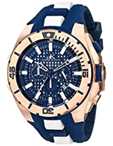 Adee Kaye Men's AK6367-M/BU Axes Collection Analog Display Japanese Quartz Blue Watch