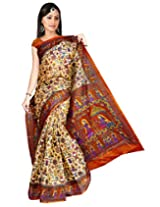 Somya Silk Saree(129Dno007_Dark Orange)