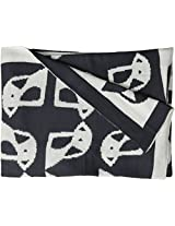 Lolli Living Mod Jacquard Knit Blanket - Penguin - Ultra Soft 100% Cotton Knit Receiving Or Swaddle Blanket, Reversible Graphic Print, Lightweight And Breathable