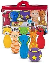 Ks Kids Bowling Friends Preschool Playset + FREE Melissa & Doug Scratch Art Mini-Pad Bundle [91602]