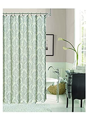 Dainty Home Luciana Collection Shower Curtain, Silver