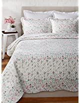 Eileen West English Rose by Melange Home Super Soft Quilt Set, Full/Queen