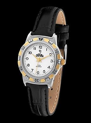 Dogma G1011 - Reloj de Caballero movimiento de quarzo con correa de piel negro
