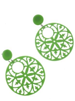 Anna Biblò Neon Orecchini Medaglione verde