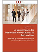 La Gouvernance Des Institutions Universitaires Au Burkina Faso (Omn.Univ.Europ.)