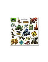Dinotrux Stickers Party Favor Pack (240 Stickers (12 Sheets) With Mighty Dino Temporary Tattoos)